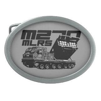 M270 MLRS Oval Belt Buckle