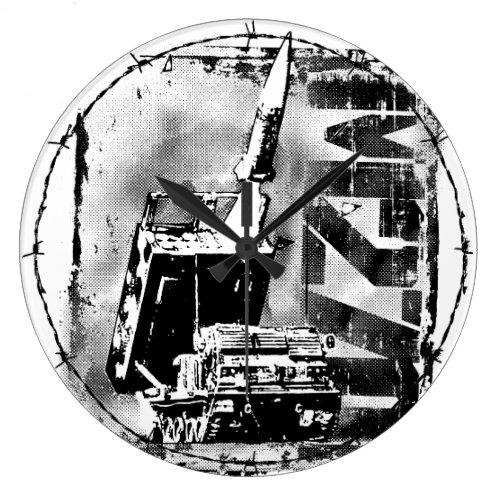 M270 MLRS Round (Large) Acrylic Wall Clock