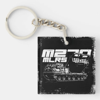 M270 MLRS Square (double-sided) Keychain