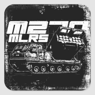 M270 MLRS Square Sticker