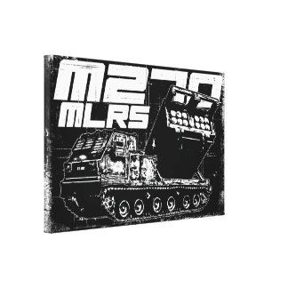 M270 MLRS Wrapped Canvas
