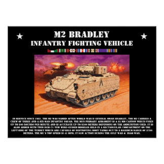 M2 Bradley Infantry Fighting Vehicle Poster