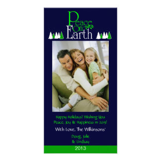 M2 Peace On Earth-Midnight Holiday Photo Cards