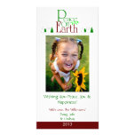 M2 Peace On Earth-White Holiday Xmas Cards Photo Greeting Card