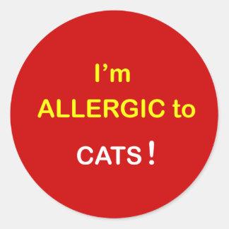 m2 - Soy alérgico - los GATOS Pegatina Redonda
