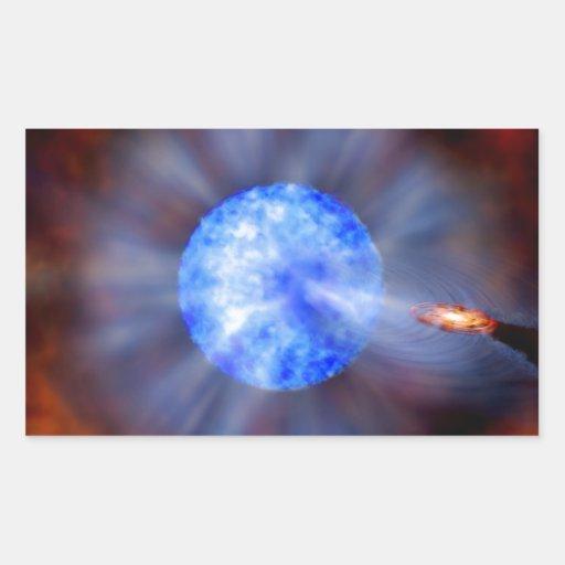 M33 Black hole in space Rectangular Sticker