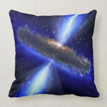 M33 Black hole in space Throw Pillows