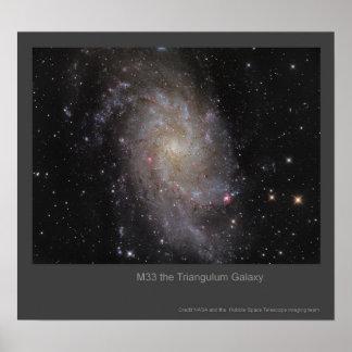 M33 The Triangulum Galaxy Poster
