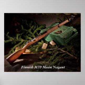 M39 finlandés Mosin Nagant Póster