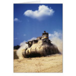 M3 Lee Tank in Training Exercises at Fort Knox Greeting Card
