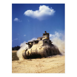 M3 Lee Tank in Training Exercises at Fort Knox Post Cards