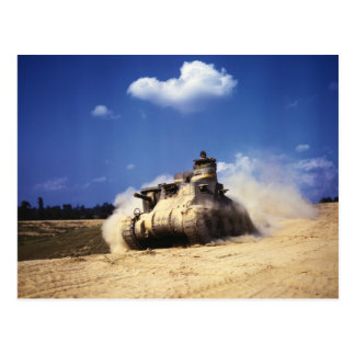 M3 Lee Tank in Training Exercises at Fort Knox Postcards