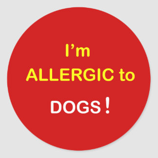m3 - Soy alérgico - los PERROS Pegatina Redonda