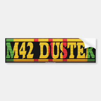 M42 Duster Vietnam Service Ribbon Bumper Sticker Car Bumper Sticker