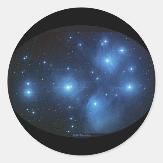 M45 the Pleiades Classic Round Sticker