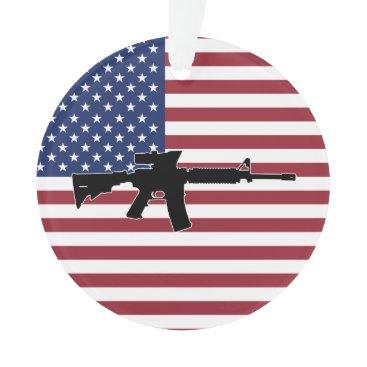 M4 & American Flag Ornament