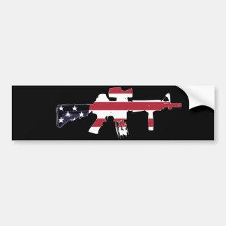 M4 americano etiqueta de parachoque
