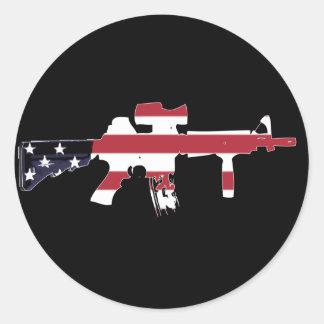 M4 americano pegatina redonda