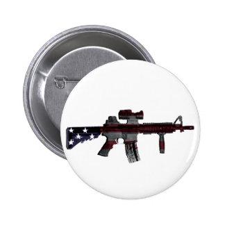 M4 americano pin redondo de 2 pulgadas