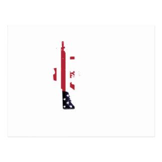 M4 americano tarjeta postal