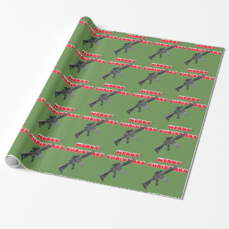 M4 Guns, Merry Christmas Wrapping Paper