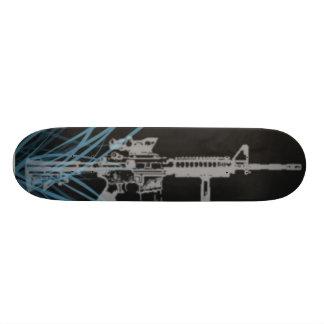 M4 lights skateboard deck