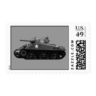M4 Sherman Postage Stamp