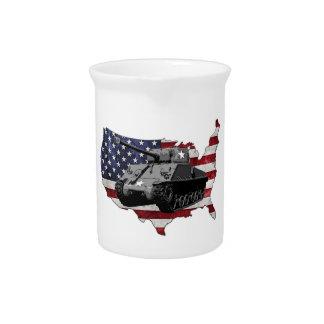 M4 Sherman tank Beverage Pitchers