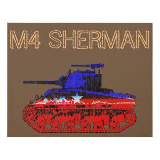 M4 Sherman Tank Panel Wall Art