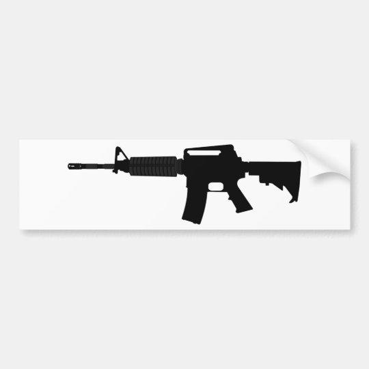 M4 Silhouette Bumper Sticker
