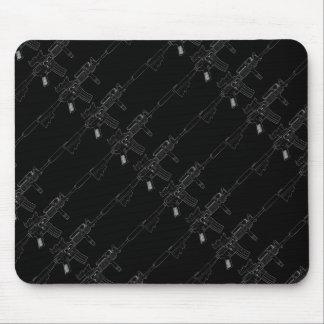 M4 SOPMOD Black Tiled Mouse Pad