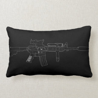 M4 SOPMOD Lumbar Pillow Black