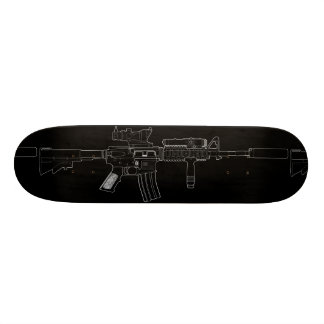 M4 SOPMOD Skateboard Deck Black