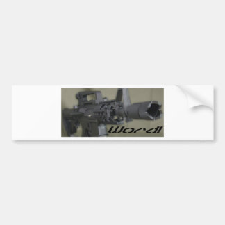 M4 word bumper sticker