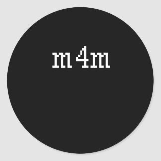 M4M PEGATINA REDONDA