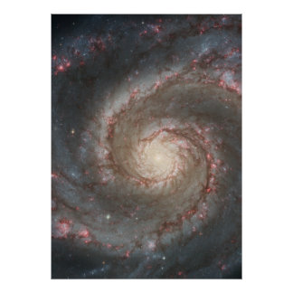 M51 Colossal Poster - Whirlpool Spiral Galaxy
