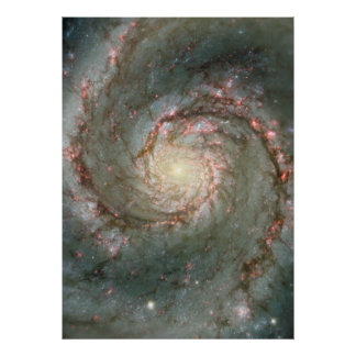 M51 Huge Poster - Whirlpool Spiral Galaxy
