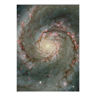 M51  Large Poster- Whirlpool Galaxy Astronomy gift