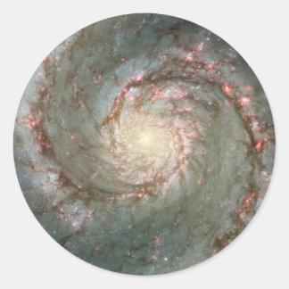 "M51 Large Stickers Whirlpool Spiral Galaxy 3"""