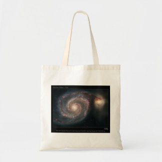 M51 Whirlpool and companion galaxies Tote Bags