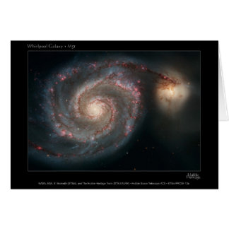 M51 Whirlpool and companion galaxies Card