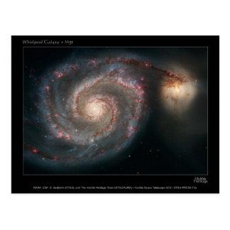 M51 Whirlpool and companion galaxies Postcard