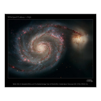 M51 Whirlpool and companion galaxies Poster