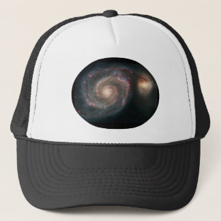 M51 Whirlpool and companion galaxies Trucker Hat