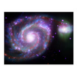 M51 Whirlpool Galaxy: A Classic Beauty Post Cards