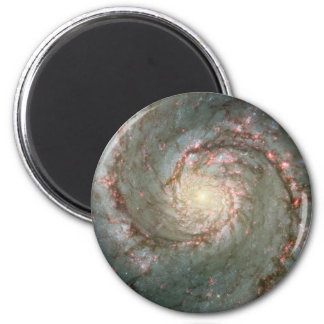 "M51 Whirlpool Spiral Galaxy 2 1/4"" Magnet"