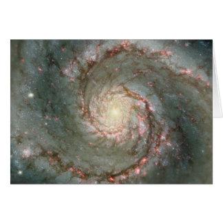 M51 Whirlpool Spiral Galaxy Greeting Card