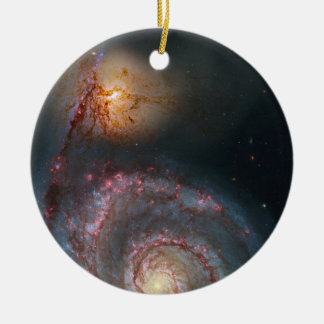 M51 Whirlpool Spiral Galaxy NASA Ceramic Ornament