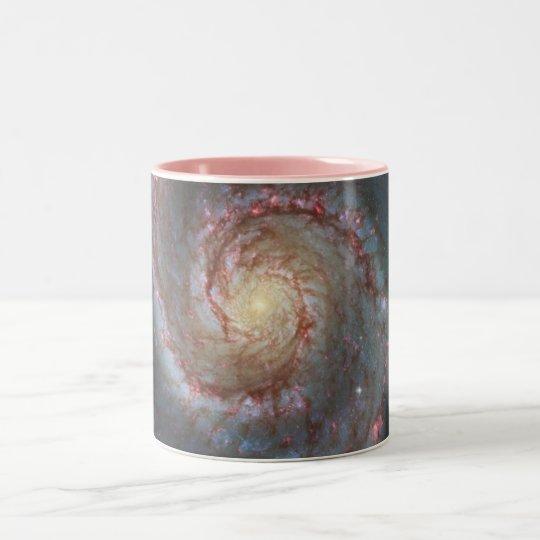 M51 Whirlpool Spiral Galaxy NASA Two-Tone Coffee Mug