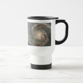 M51 Whirlpool Spiral Galaxy White Travel Mug